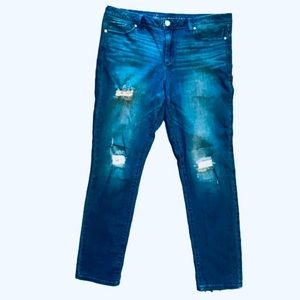 Laura Conrad Straight Leg Distressed Jeans SZ 12